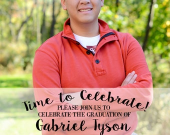 Customized Graduation Announcements and Party Invitation with Picture