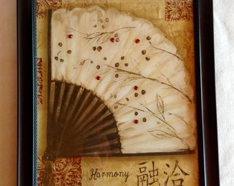 "Japanese ""Harmony"" Wall Hanging"