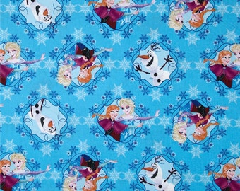 Frozen Sisters Disney Fabric Anna Elsa Olaf *IN STOCK*