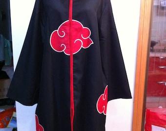 Naruto Xiao COS coat Itachi Xiao Cloak Naruto Akatsuki organization Cloak/Stand collar,without hat