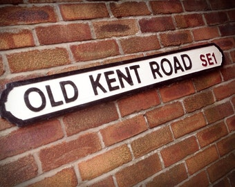 Old Kent Road Old Fashioned Wood London Street Sign