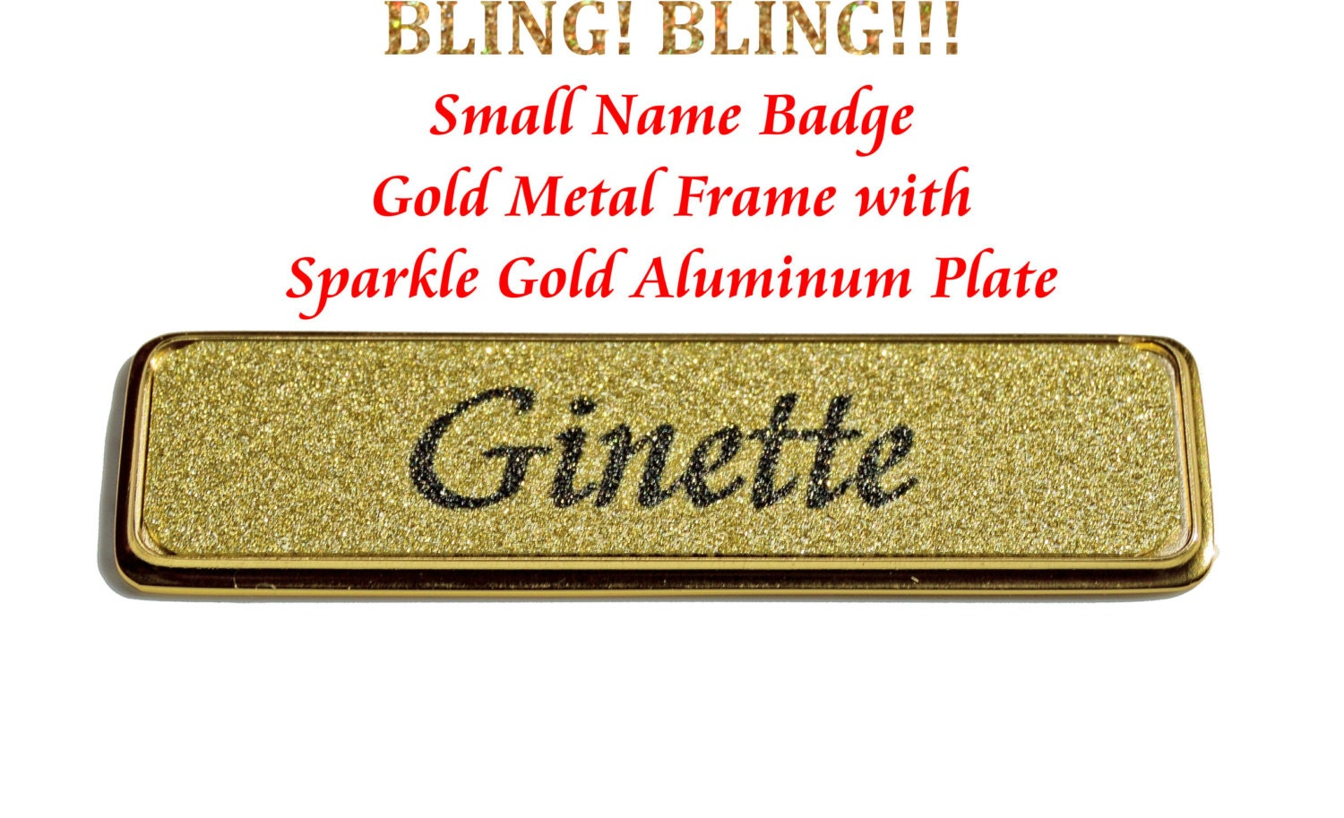 Name Badge: Name Badges With Magnetic Fastener Bling Bling Name Tags