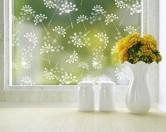 Dandelion Privacy Window Film - Adhesive - Standard 36 in. x 48 in.