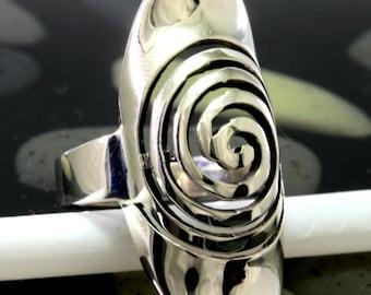 Ring 925 sterling silver spiral