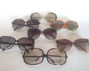 Vintage 1960s-1970s Eyewear Set of 7/Lot/Collection
