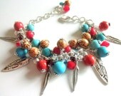 Southwestern Jewelry Bohemian Charm Bracelet Native American Style Bracelet Gift for Her