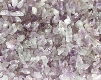 2 lb Amethyst Gravel Crushed - natural crushed Amethyst - Purple Medium Amethyst Crystal Rough Chips- broken amethyst -crushed gemstones