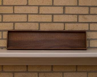 Brown Poplar Decorative Tray or Centerpiece - 25.5 x 6 x 1.5
