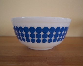 Vintage Pyrex New Dots Blue Mixing Bowl 1.5 Quart #403