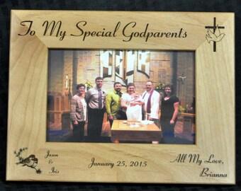 Baptism Gift.  Baptism Frame.  Godparents Gift.  Godfather Gift.  Godmother Gift.  Godparents Frame.  Picture Frame.  Baptism.  Made In USA