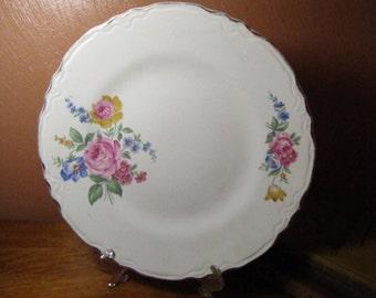 Vintage Floral Design Plate