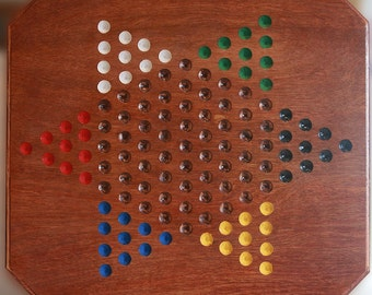 Handmade Oak Chinese Checkers Board