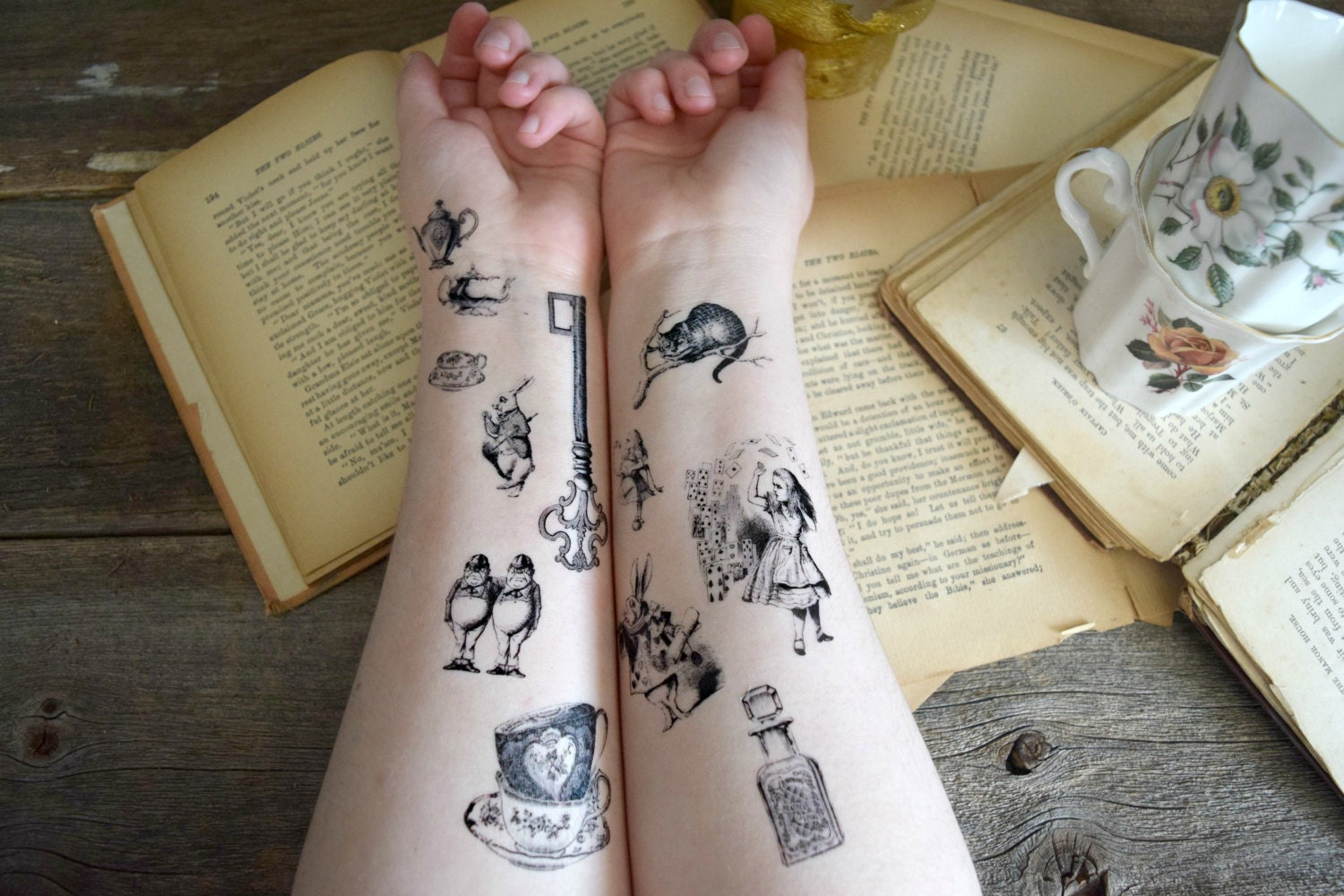 Teacup Alice In Wonderland Tattoo Pictures to Pin on Pinterest ...