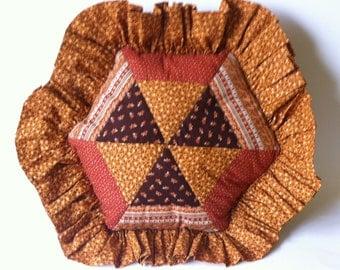 Items Similar To Hexagon Tiles Pillow Multi Color Made