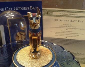 The Cat Goddess Bast Franklin Mint / Egyptian Cat Goddess / Treasures of Ancient Egypt