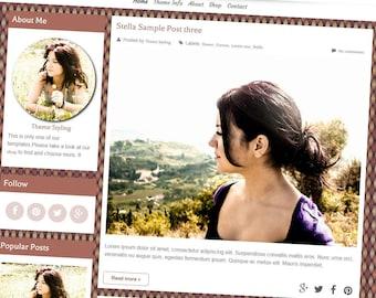 Premade blogger Template - Stella Template blogger - Responsive Blog Template - Blog Template - Blogger Theme