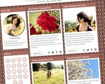 Premade blogger Template - Stella Template blogger columns 2 - Responsive Blog Template - Blog Template - Blogger Theme
