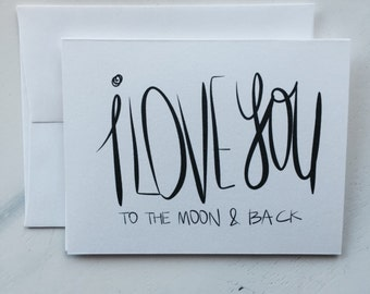 I Love You To The Moon & Back Card (GC007101)