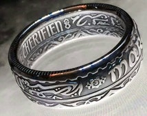 Moroccan Treasure - Ornately Detailed 10 Francs/Frankā Coin Ring