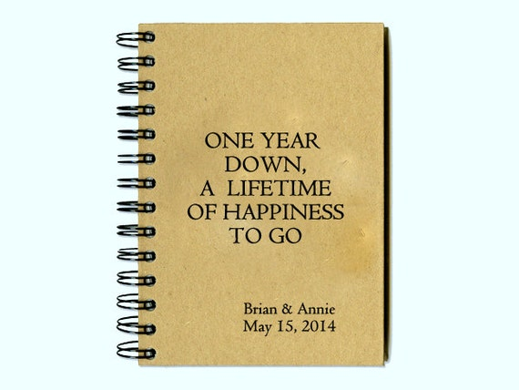 Couples first anniversary journal one by youneedtowriteitdown