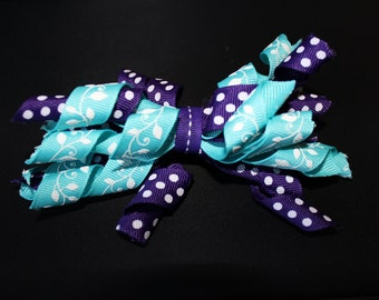Curly Bow Barrette