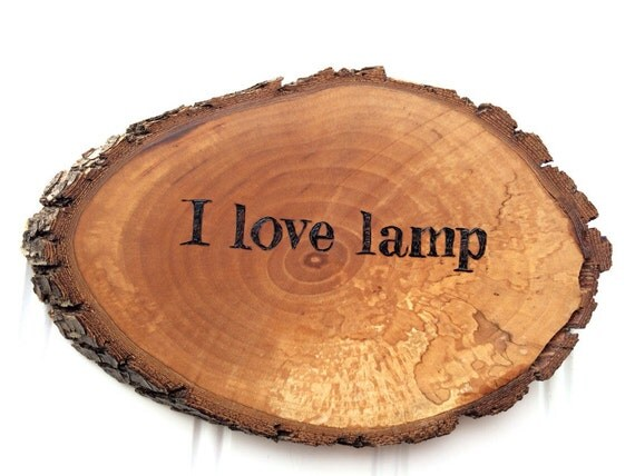 I love lamp Anchorman Brick Tamland quote funny wall sign