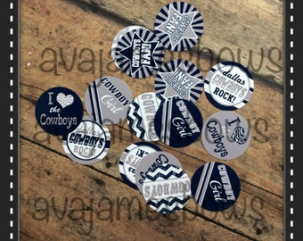 "15 precut 1"" Dallas Cowboys bottle cap images"