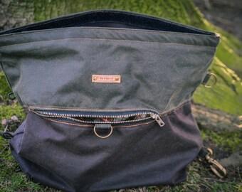 Fernweh UK Wax Cotton Canvas Rock Climbing Boulder Bag, chalk bag, chalk pot, bouldering, rock climbing