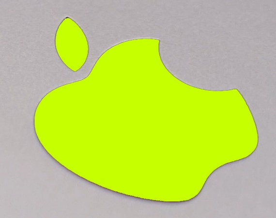 Neon Yellow Color Changer Logo Overlay for the new Apple