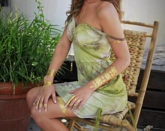Gold Metallic Tattoos, Metallic Gold Tattoos, Gold Jewelry, Gold Tattoos by ShimmerTatts
