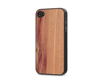 iPhone 4 / 4s #WoodBack Real Wood Case - Cedar (FREE and Fast Delivery)