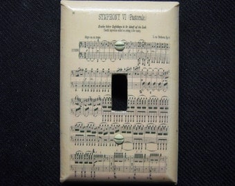 Light Switch Cover Symphony VI (Pastorale) Beethoven Sheet Music Print