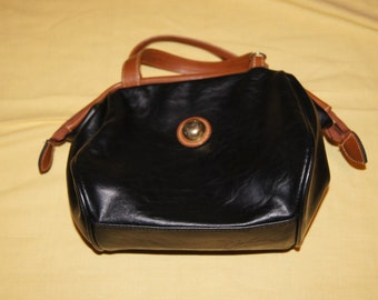 Vintage 1980's - Capezio Leather Purse with Shoulder Strap