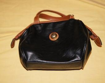 Vintage 1980's - Capezio Leather Purse with Shoulder Strap