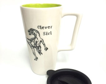 Clever girl Travel Mug with Handle