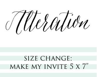 "Make My Invites 5x7"""