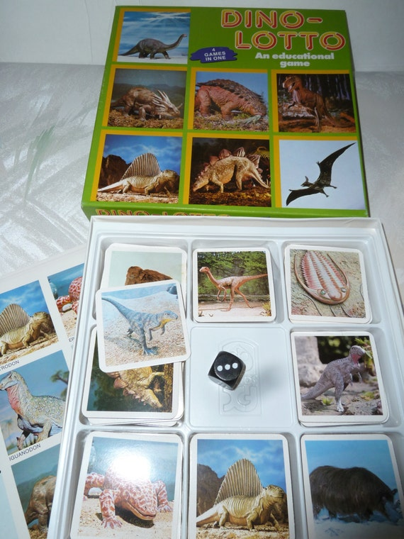 Vintage Dino-lotto Game