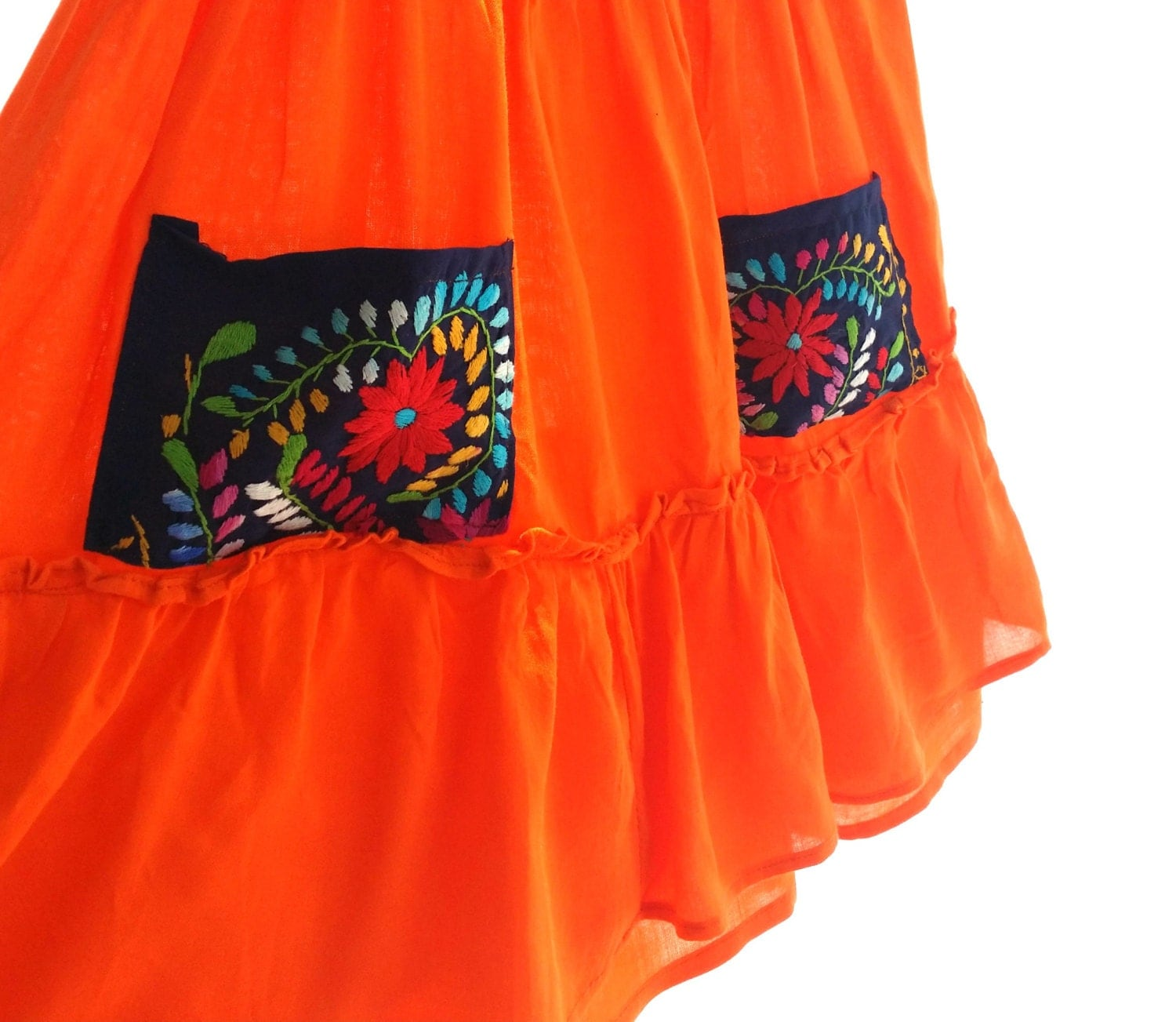 Handmade mexican embroidered baby dress size years by