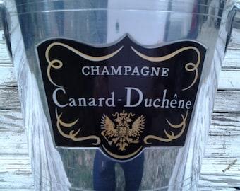 Vintage French Champagne Bucket aluminum Champagne Ice Bucket / french champagne Canard-duchene / apartment Paris