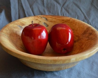 Spalted Maple bowl, one of a kind, finished with danish oil and carnuba wax