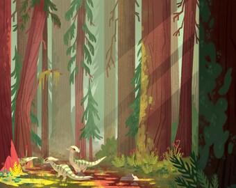"Redwoods Art Print - 11"" x 17"""
