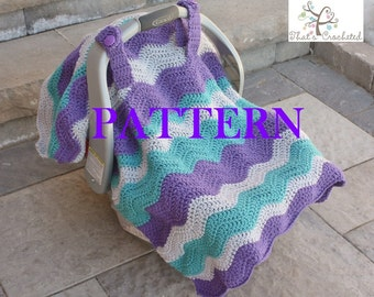 PDF CROCHET PATTERN Instant Download Baby Car Seat Canopy/Blanket & Crochet car blanket | Etsy