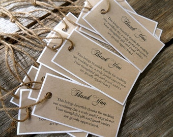 50 Rustic Vintage Thank You Tags - Stylish with a Chic touch