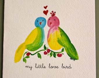 Valentine Card -Love Birds