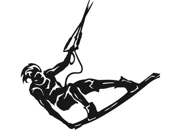 ON SALE Kiteboarding vinyl sticker, car decal, kitesurfing