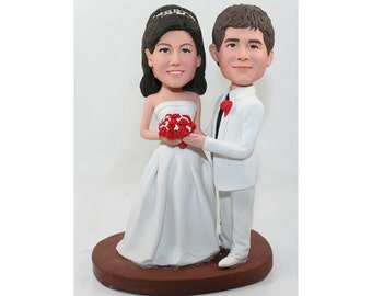 custom wedding cake toppers bride and groom anniversary, wedding cake topper, hands made