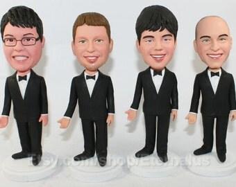 custom Groomsmen gifts  bobbleheads ,groomsmen gift ,custom groomsmen gift, best groomsmen gift