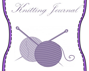 Printable Knitting Journal