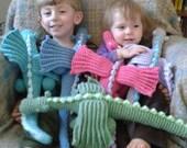 crochet dragon plush toy - choose your colors