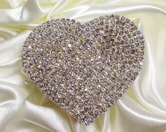 Crystal Heart Applique